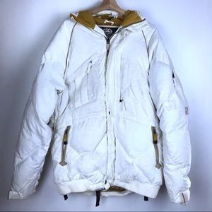 686 New Era snowboarding coat XL white Times Line